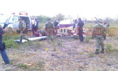Cae aeronave en la Huasteca Potosina, norteamericano de la tercera edad que lo tripulaba resulta con lesiones