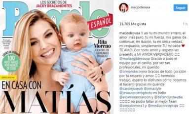 Marjorie de Sousa muestra a su hijo en revista