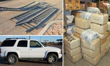 Con una rampa, narcos mexicanos 'cruzaron' una camioneta llena de marihuana a EU