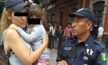 Localizan a menor extraviada en calles del Centro Histórico