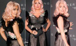 Salma Hayek sorprende en Cannes con cabello rosa