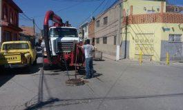Realizan acciones de limpieza en drenaje para prevenir inundaciones en Soledad