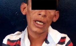 Roba celular y mochila a transeúnte en Eje Vial, fue detenido