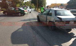 Choque en Carretera a Matehuala complica vialidad