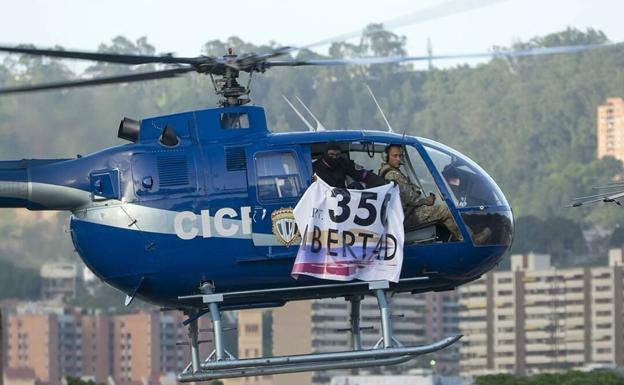 Un helicóptero robado de la Policía ataca el Supremo venezolano