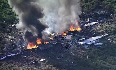 Avión militar se estrella en Mississippi, hay 16 muertos