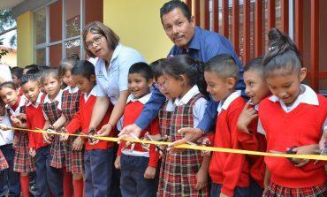 Alcalde RGJ entrega aula y comedor a la Primaria Manuel José Othón