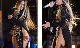 Jennifer Lopez canta sin ropa interior en Nueva York