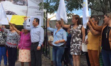 Alcalde Ricardo Gallardo Juárez arrancó obra de pavimentación en Bellas Lomas