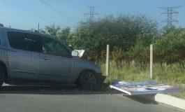Chocan y abandonan camioneta a la entrada de Capulines