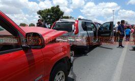 Carambola en SNM, mujer embarazada resultó lesionada
