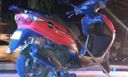 Con placas sobre puestas abandonan motocicleta en Carranza