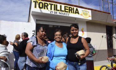 Miles de familias soledenses beneficiadas con tortillerías subsidiadas