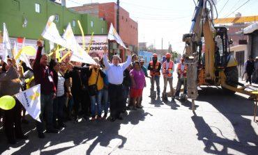 Arrancan pavimentación en calle República Dominicana