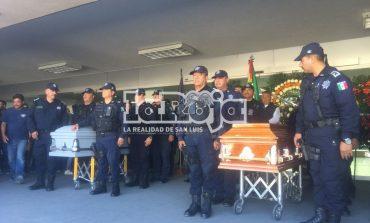 Ausente el gobernador en ceremonia de despedida a oficiales caídos de la Fuerza Metropolitana Estatal