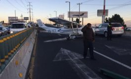 Avioneta aterriza de emergencia en Bulevar de Toluca