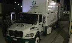 En retén de la SEDENA descubren droga en camión del IMSS