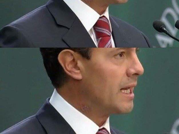 Extraña mancha en el cuello del Presidente Peña causa revuelo en redes sociales