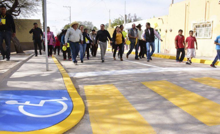 Entregan primera etapa de pavimentación integral de Avenida las Américas en Rancho Nuevo