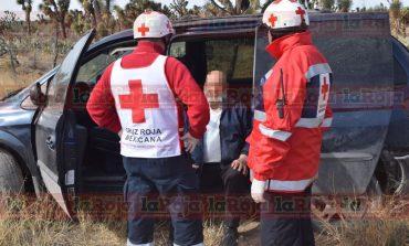 Impacto por alcance en Carretera a Rioverde deja 2 lesionados