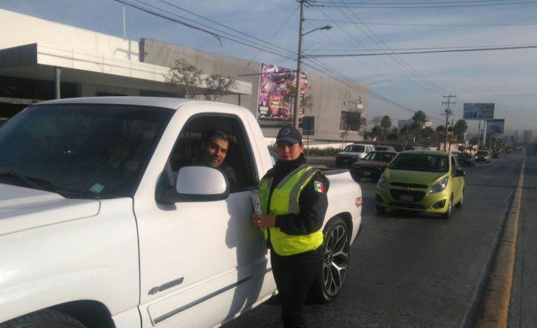 Emprenden campaña de educación y cultura vial en las calles y avenidas de la capital