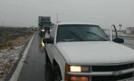Tormenta Invernal deja varados a cientos de usuarios de Carretera a Matehuala