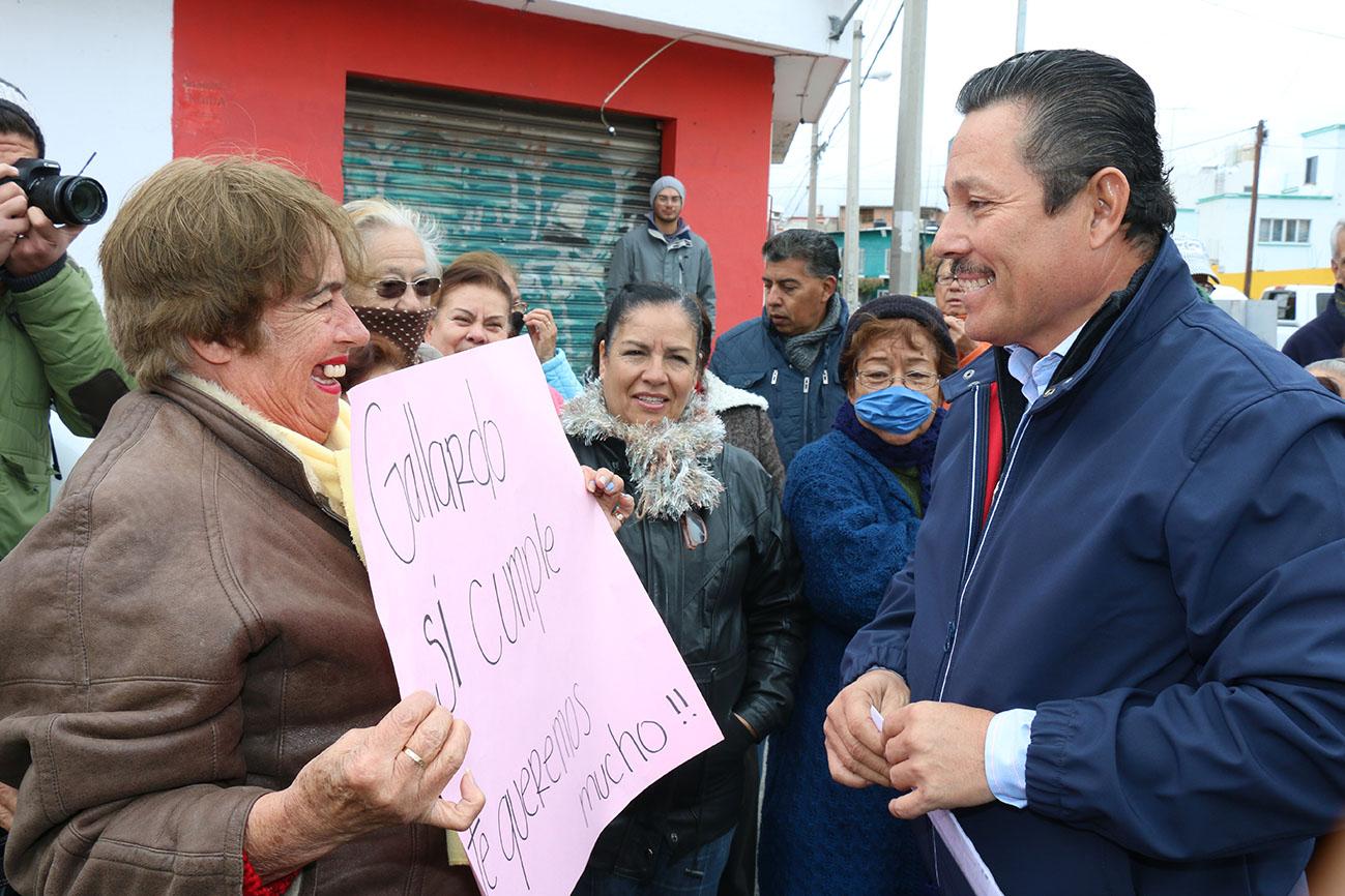 Usuarios y habitantes de calle García Diego agradecen mejoramiento de la vialidad