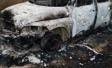 Incendian camioneta camino a Cerro de San Pedro