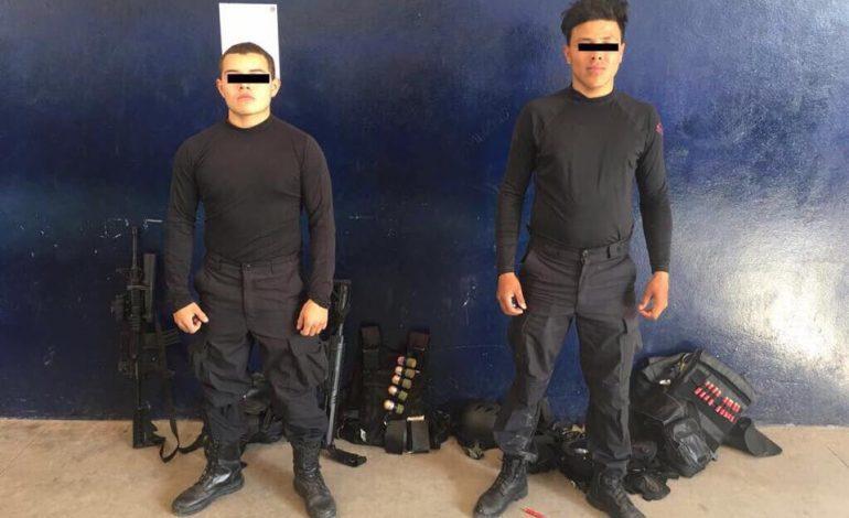 Disfrazados de sujetos armados atemorizaban a transeúntes en Carnaval; están detenidos