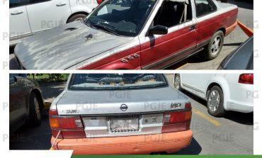Aseguran vehículo utilizado en robo domiciliario