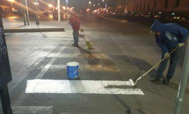 Mejoran y visibilizan pasos peatonales en Centro Histórico y alrededores