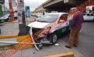 Se pasa el alto y provoca percance en carretera a Rioverde; dos lesionados