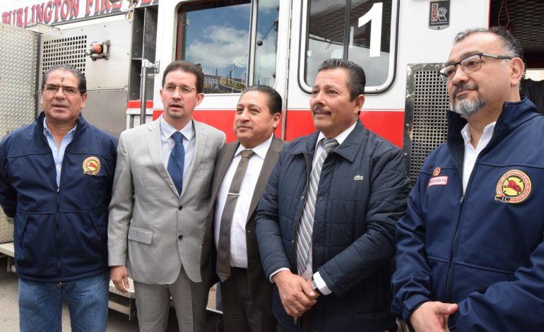 Ayuntamiento de Soledad dona moderno camión al H. Cuerpo de Bomberos