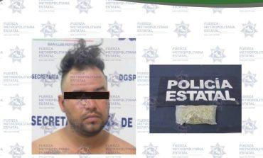 Presunto narcomenudista es detenido en Hogares Ferrocarrileros