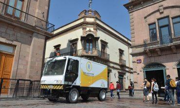 Intensifican acciones de limpieza en Centro Histórico por Semana Santa