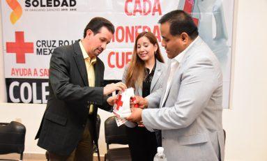 Arrancan colecta anual de la Cruz Roja Mexicana en Soledad