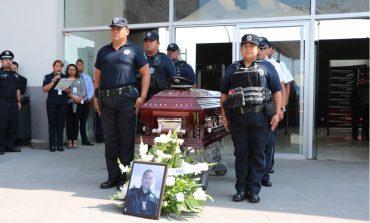 Despiden con honores a policía municipal caído