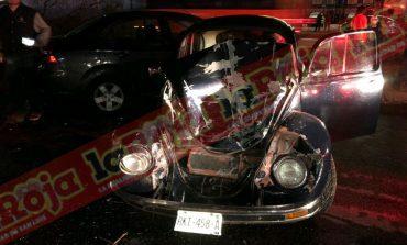 6 vehículos involucrados en carambola en Carretera 57'