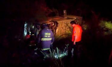 Autobús sale de la carretera en Valles, 5 lesionados