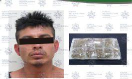 Narcomenudista a bordo de camioneta fue capturado en Soledad