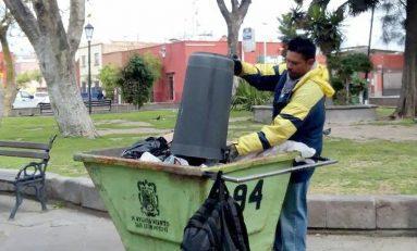 Recolectan más de 8 toneladas diarias de basura en papeleras de la Ciudad