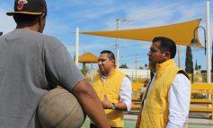 Promete Fernando Gámez recuperar y crear espacios recreativos y deportivos