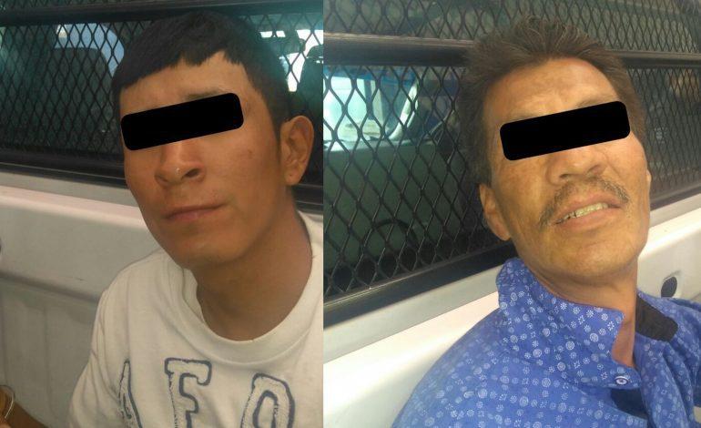 Los detienen con arma blanca, celulares y joyería, intentaron fugarse en Villa de Pozos