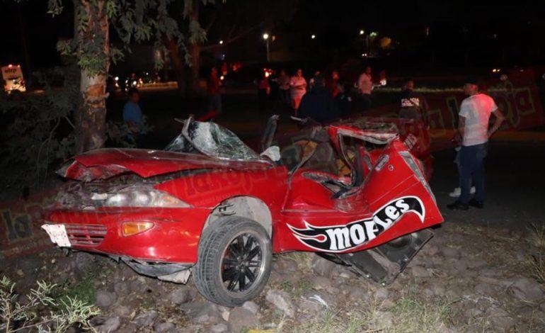 Aparatoso accidente en Carretera a Matehuala