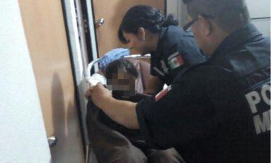 Municipales auxilian a mujer en parto en domicilio