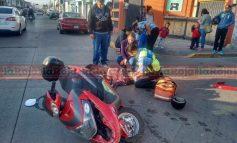 Arrollan a joven en motocicleta, el responsable huyó