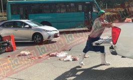 Arrollan a repartidor de carnes en SNM