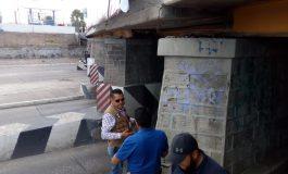 Se cerró un carril del puente camino antiguo a Soledad por falla en estructura