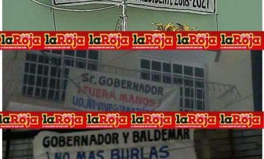 Con mantas reclaman a gobernador su intromisión en proceso electoral de Tamazunchale