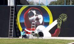 Empresa soledense cede espacios para grafitis alusivos al Día de Muertos